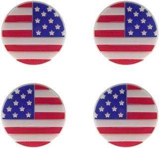 BESPORTBLE 网球拍减震器,美国国旗图案网球拍减震器,网球拍弦减震器,4 件