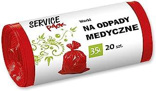 Stella 033799 *垃圾袋 | 35 升 | 20 件 | 垃圾袋 垃圾袋 用于*危险,LDPE膜的救生垃圾 制造/由再生颗粒制成,颜色:红色
