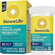 Renew Life 成人益生元素食胶囊-Ultimate Flora Colon Care益生元补充剂-不含麸质,乳制品和大豆-800亿个CFU-60粒