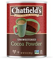 Chatfields 可可粉,無糖無麩質,素食,10盎司,罐裝