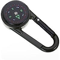 指南针登山扣 3 合 1 温度计钥匙扣扣扣环户外野营徒步扣工具