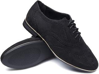 SROSERAWN 女式平底休闲系带鞋