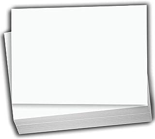 Hamilco 白色卡片纸 - 平板 4 X 6 英寸(约 10.2 X 15.2 厘米)重型打印纸卡 - 100 包
