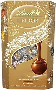 Lindt Lindor 瑞士蓮 什錦巧克力松露盒 - 約 48 個球,600 克 - 各種牛奶,白色,超黑和榛子巧克力球