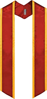 Plain Graduation Honor Stole 斜角端带饰边中性成人 182.88 厘米长