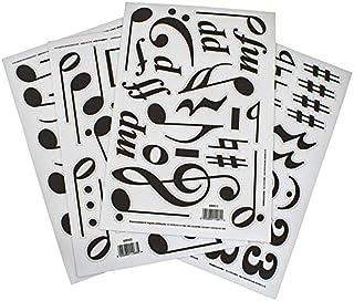 4 张磁性音乐符号