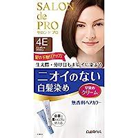 塔丽雅SALON de PRO 无香料*膏 快速*膏(白发用) 4E<优雅棕色> 40g+40g [准*]