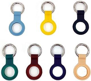 AirTag 手机探测器 2021 保护套,软硅胶跟踪器支架带防丢失钥匙扣,找到钥匙,狗,钱包,背包,多色钥匙圈(7 件装)