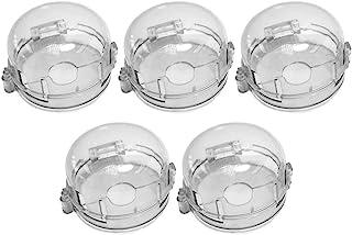Toddmomy 透明炉灶旋钮*盖厨房炉灶燃气旋钮盖易于安装幼儿婴儿*厨房*防护罩适用于家庭厨房,耐透明 5 件
