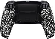 eXtremeRate 纹理白色可编程升降重新映射套件适用于 PS5 控制器、*板和重新设计的后壳和后按钮附件,适用于 DualSense 控制器 - 不包括控制器