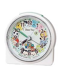 Seiko 精工 座鐘 鬧鐘 白色珍珠 尺寸:8.9 x 8.6 x 4.7cm 鬧鐘 迪士尼 TSUM FD481W
