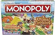 Monopoly 集合啦!动物森友会 儿童版棋盘游戏,适合8 岁及以上儿童,适合 2-4 名玩家