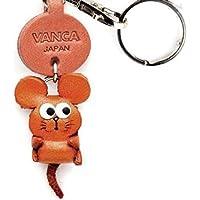 老鼠皮革 Zodiac 吉祥物小钥匙扣 VANCA CRAFF - 可收藏钥匙圈日本制造