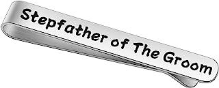BEKECH 新郎的继父礼物阶梯 新郎父亲领带夹 新郎阶梯 父亲 法律 婚礼 派对 礼物 赠送 父亲礼物 继父 礼物