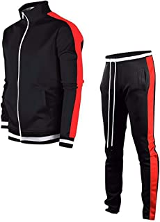 男式休闲运动服套装 – 运动全拉链长袖跑步慢跑运动运动套装 – 4 种颜色