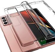 araree [Nukin 360] 透明硬质聚碳酸酯手机壳,适用于 Galaxy Z Fold2(透明)..