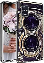 老式相机适用于三星 A51 4G 保护套男女男孩,酷炫复古 70 年代 80 年代 90 年代老式复古相机保护套适用于三星 A51 4G ,有趣的复古外观柔软超薄硅胶外壳
