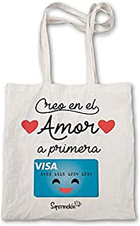 Supermolon 相信爱是*次 Visa,棉质包。