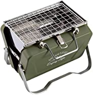 CAPTAIN STAG 鹿牌 烧烤炉 烤架 V型 桌上烤架 B6型 橄榄绿 Monte UG-81