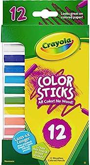 Crayola 颜色 STICKS woodless 彩色 pencils-12/ 包短款