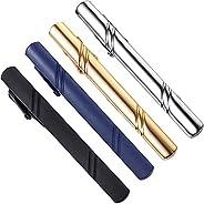 HAWSON 2.3 英寸(约 5.8 厘米)男士领带夹套装,4 件/5 件/7 件/8 件套领带夹,适合普通领带