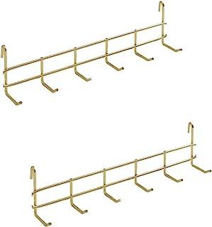 GRIDYMEN 多功能墙壁存储和展示挂钩,金属丝网面板装饰挂钩,尺寸 27.2 厘米 x 7.1 厘米 x 4.6 厘米,2 合 1,玫瑰金