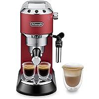 De'Longhi 德龙 Dedica Style 波塔手柄过滤咖啡机 EC 685.R,带有专业起泡器的意式咖啡机,仅…