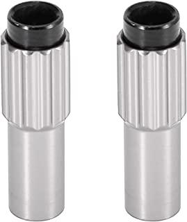X AUTOHAUX 2 件银色金属自行车电缆调节器螺栓制动齿轮换档连接器