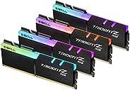 G.SKILL TridentZ RGB 系列 32GB (4 x 8GB) 288-Pin DDR4 SDRAM DDR4 3200 (PC4 25600) 台式机内存型号 F4-3200C16Q-32GTZR