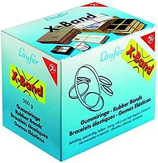 Läufer 59082 Rondella X 带弹性十字带,橡胶带 100 x 11 毫米,直径 65 毫米,500 克盒,多种颜色分类