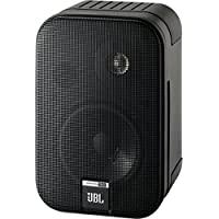 JBL Control One 書架式音箱,堅固緊湊型 衛星音頻監聽音箱 (一對裝),黑色