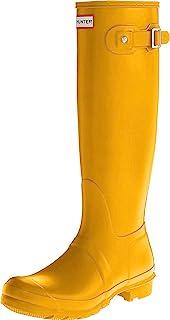 Hunter 女式原创加长 WELLINGTON 及踝靴 黄色 4 UK