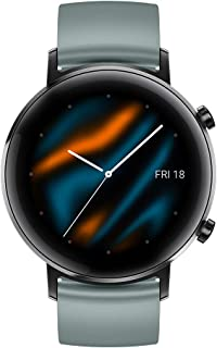 Huawei 华为 GT 2 (42mm) 智能手表,AMOLED显示屏,3D 玻璃屏幕,1周电池寿命,带GPS、15种运动模式,实时心率监,湖青色,1.2英寸