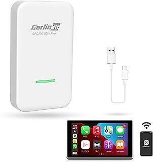 无线车载播放 USB 加密狗激活器 Carlinkit 2.0 U2W(C 型设计)适用于工厂有线汽车播放,即插即用,在线*,转换有线为无线Carplay适配器(白色)