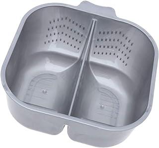 PIXNOR *搅拌碗,着色混合色调双碗,塑料 DIY *碗,适用于*颜色,*漂白剂,*(灰色)