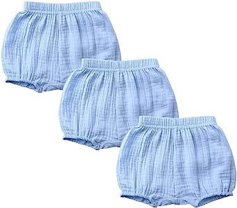 男婴女童 3 件装纯色棉质宽松上衣