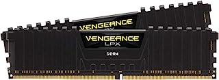 CORSIAR 美商海盗船 Vengeance LPX 16GB(2x8GB)DDR4 DRAM 3200MHz C16台式机内存套件-黑色(CMK16GX4M2B3200C16)