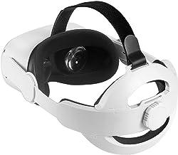 Oculus Quest 2 配件,适用于Oculus Quest 2的Elite舒适保护表带-分体式可拆卸自由调节结构-白色