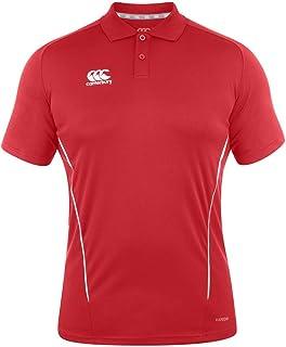 Canterbury E533783-468-4XL 球队干燥 Polo - 旗帜红色/白色,4XL 号