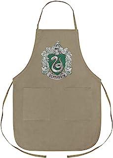 GRAPHICS & MORE 哈利波特 Slytherin 彩绘徽章围裙,带口袋