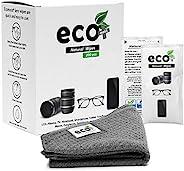 Ecomoist 镜头清洁湿巾 200 个预湿和单独包装的镜头清洁湿巾超细纤维毛巾,非常适合眼镜手机相机镜头屏幕键盘