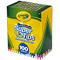 CRAYOLA 繪兒樂 58-5100 Super Tips 可水洗馬克筆,多色,17.78 x 14.73 x 8.6300000000000008cm
