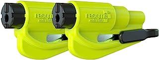 resqme 锐救 破窗器/安全带切割二合一汽车紧急逃生钥匙扣破窗器 黄色 5.3x8.3英寸 2只装(亚马逊进口直采,美国品牌)
