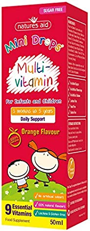 Natures Aid Multi-Vitamin and Minerals Drops for Infants and Children (50 ml, 9 Essential Vitamins and Mineral