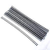 INTBUYING 3:1 螺距线圈装订线圈 100 页装订机用钢材 3/8 Inch 黑色