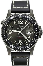 Xezo AIR 突击队 D45-GL 日本自动潜水员飞行员枪金属手表,黑色