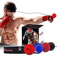 Champs 拳击反光球拳击设备战斗速度,MMA 拳击装备专业拳击球 - 非常适合反应速度和手眼协调训练反光包替代品