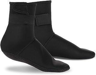 Hapeisy 潜水袜,氯丁橡胶袜沙滩短靴鞋,3 毫米胶合盲缝防滑潜水服靴脚游泳袜,适合水上运动户外活动 M39-41