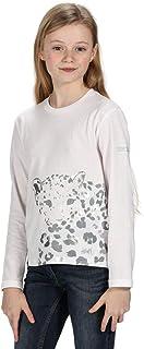 Regatta 儿童 Wenbie Coolweave 棉质长袖 T 恤带图案印花 Polo 衫/背心