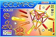 Geomag,Classic Color,262,磁铁结构和学习游戏,64件